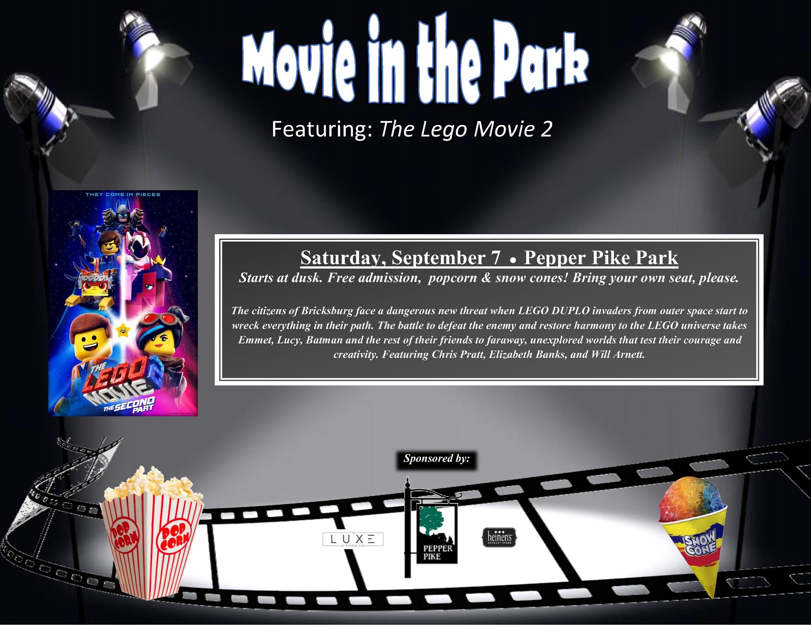 Movies in the Park The Lego Movie 2