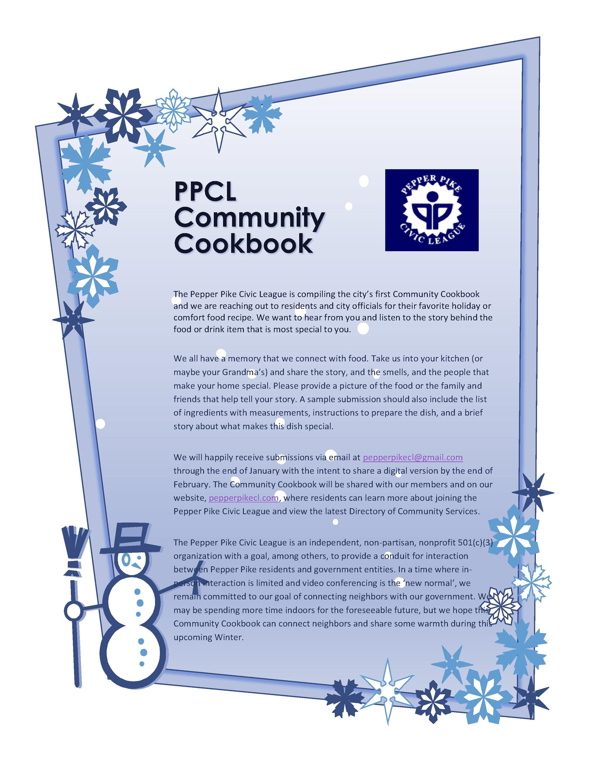 PPCL Community Cookbook Flyer (00000002)