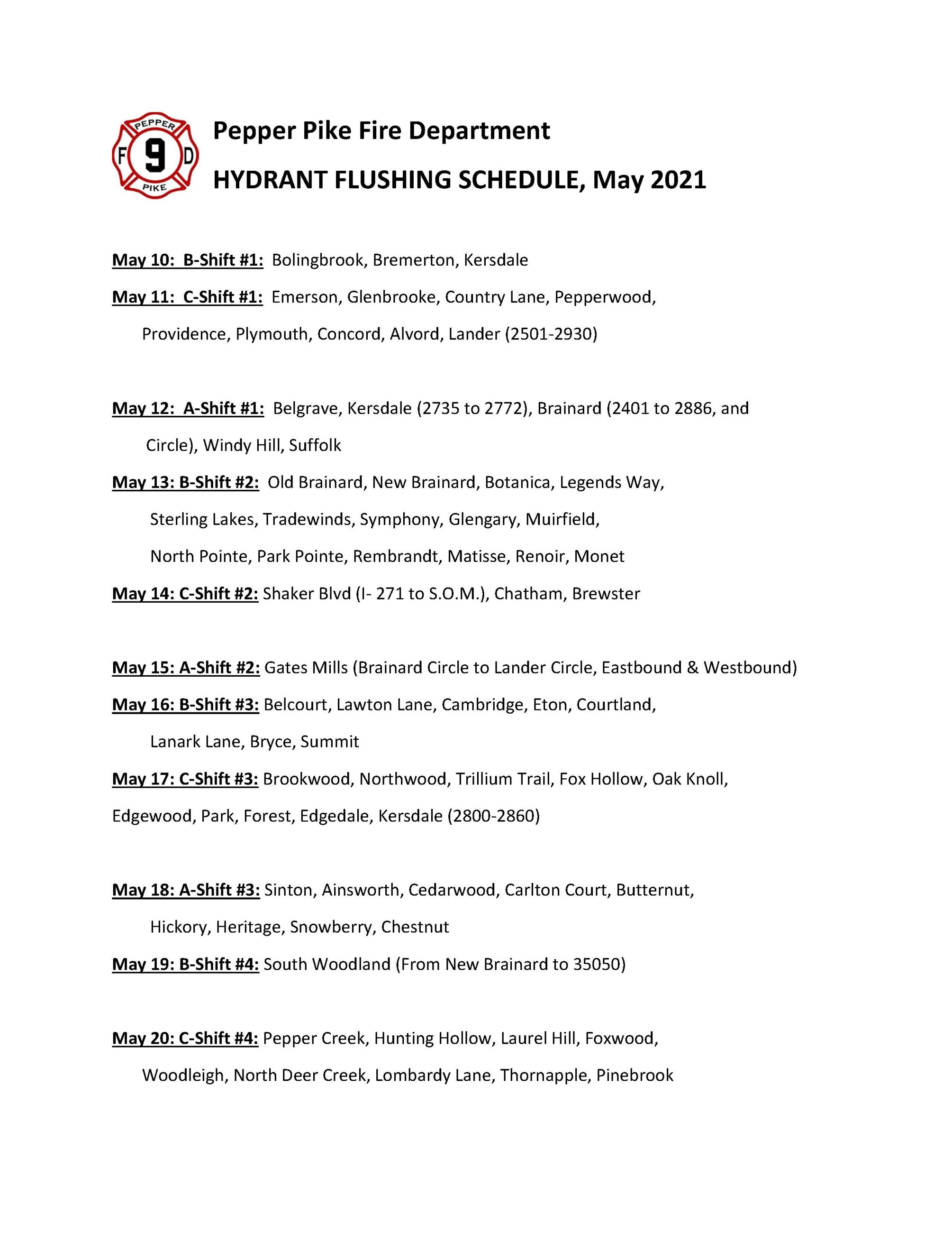 TENTATIVE FLUSHING SCHEDULE21-resident_1