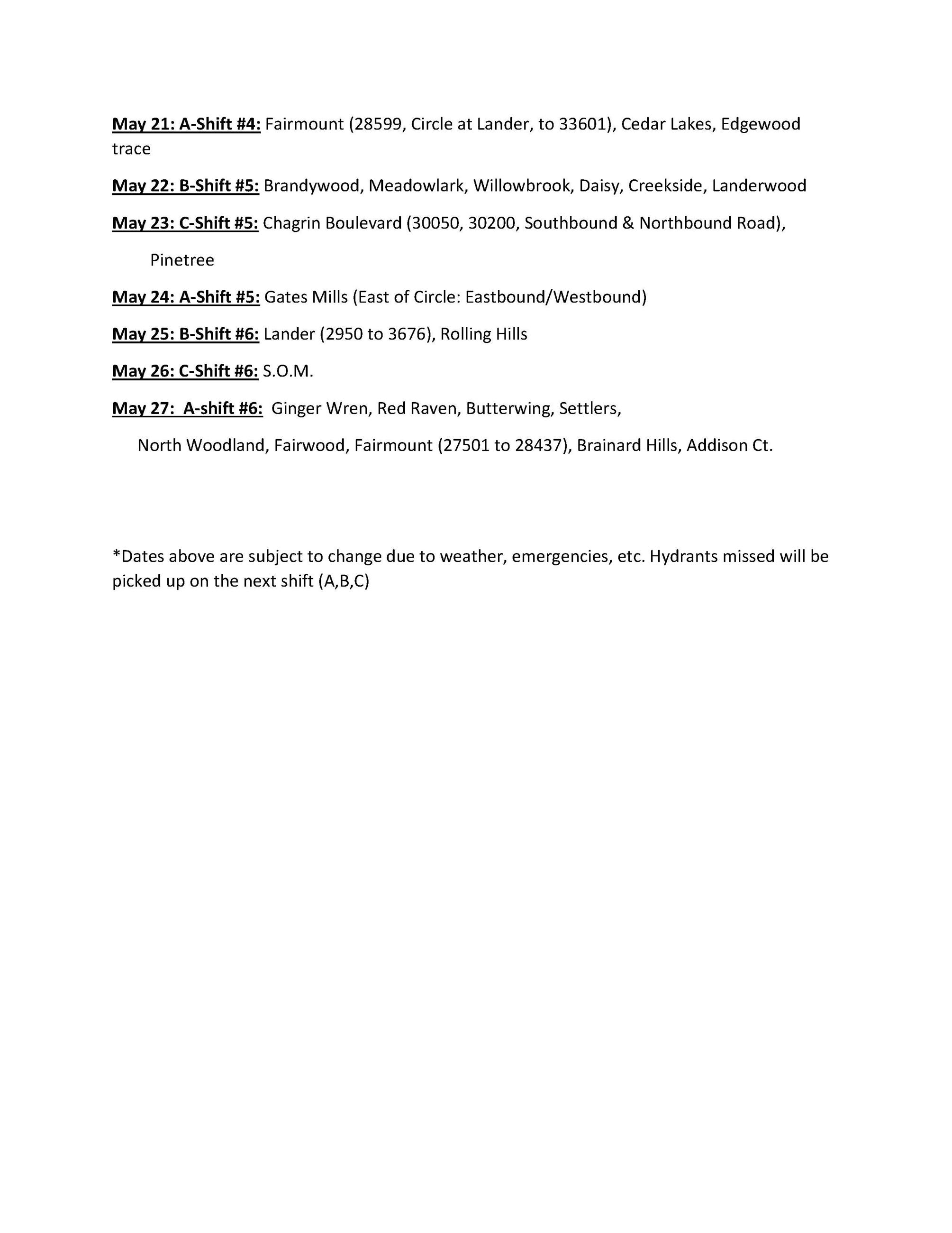 TENTATIVE FLUSHING SCHEDULE21-resident_2